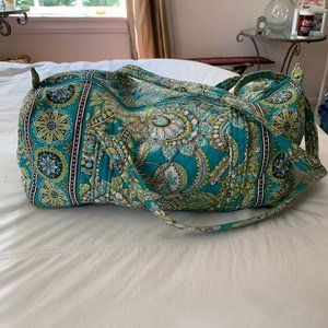 Vera Bradley Small Duffel in Teal Green